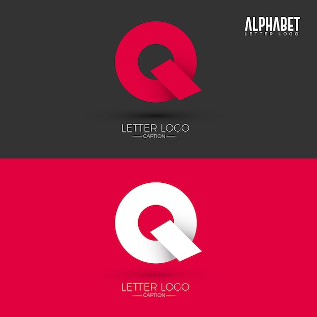 Origami Style Q Lettre Logo Vecteur Premium