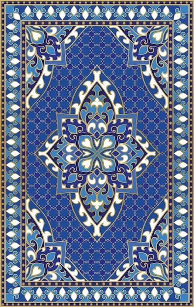 Ornement Abstrait Oriental. Modèle Coloré Pour Tapis, Couverture, Châle, Textile. Motif Coloré Ornemental Avec Des Détails En Filigrane. Vecteur Premium
