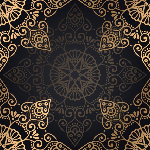 Ornement beau fond élément de cercle géométrique fait en vecteur Vecteur gratuit