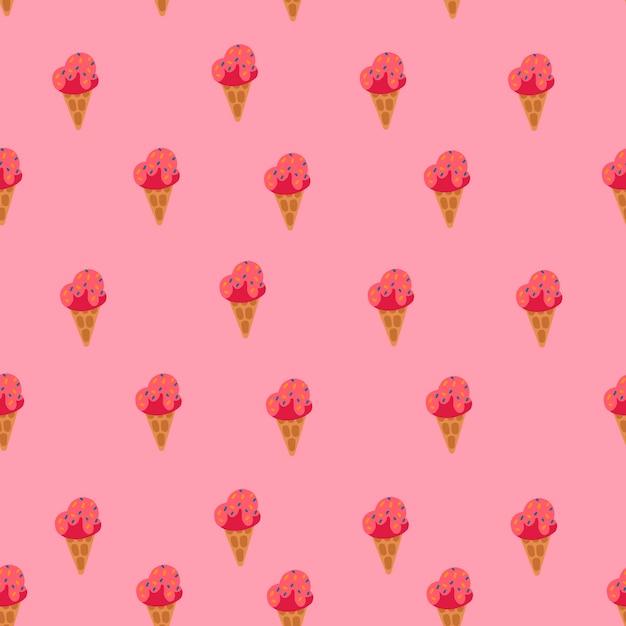 Ornement de crème glacée Vecteur Premium