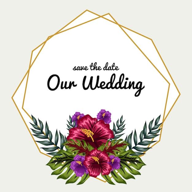Ornement décoratif cadre floral Vecteur Premium
