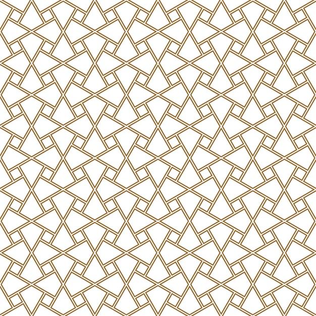 Ornement géométrique de modèle sans couture basé sur l'art arabe traditionnel. tuiles du caire. Vecteur Premium