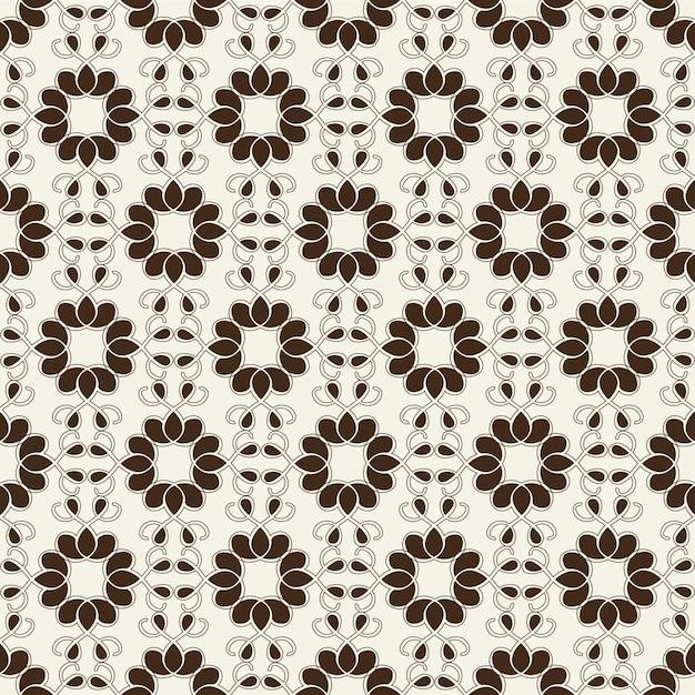 Ornement Géométrique Sans Soudure Monochrome Vecteur gratuit