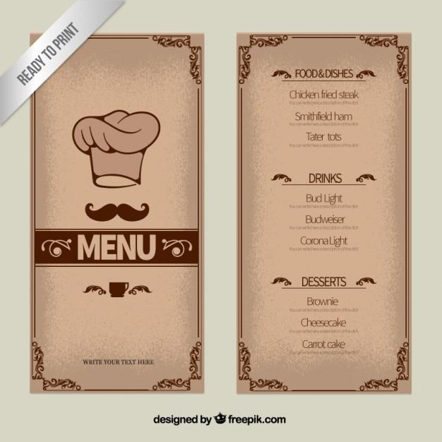Ornement mod le de menu t l charger des vecteurs premium for Design del mazzo online