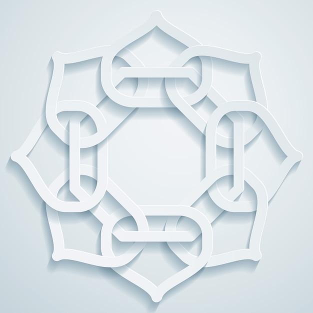 Ornement motif géométrique arabe Vecteur Premium