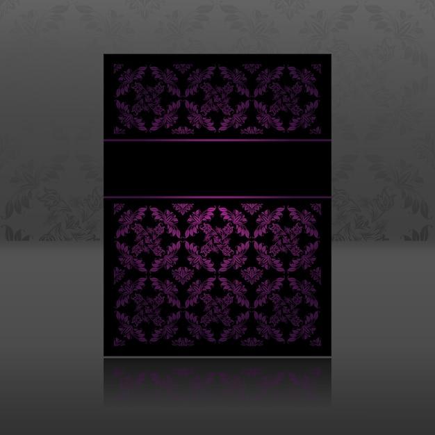 Ornement à motif lilas floral Vecteur Premium