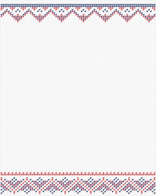 Ornements de chandail pour motif scandinave Vecteur Premium