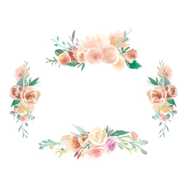 Ornements floraux vintage Vecteur gratuit