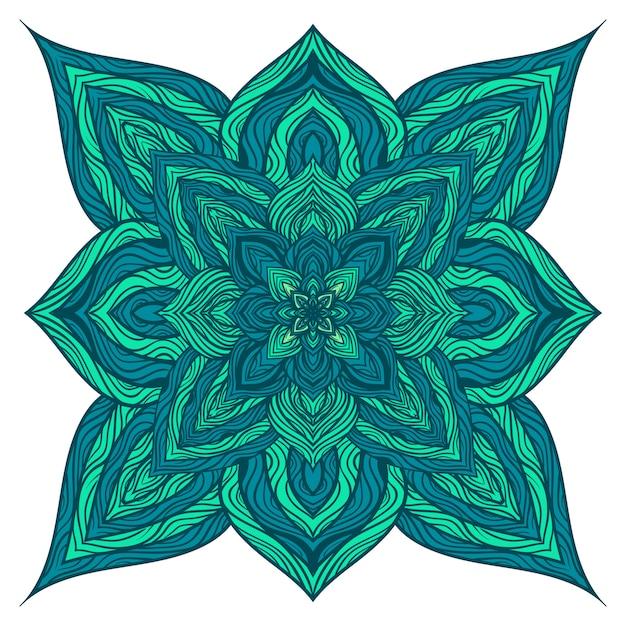 Ornements de mandala de nature vectorielle. Vecteur Premium