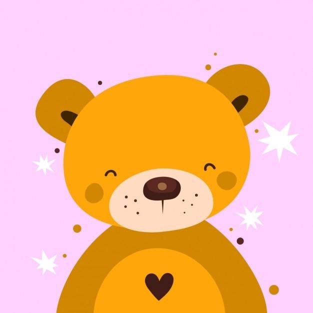 L'ours De La Saint-valentin Vecteur gratuit
