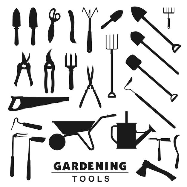 Outils De Jardinage, équipement D'agriculteur Agricole Vecteur Premium