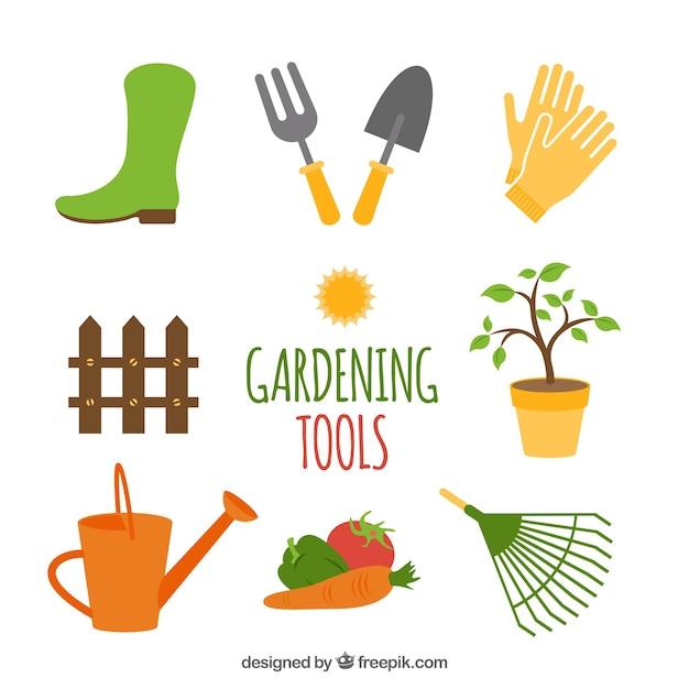 Outils de jardinage Vecteur gratuit