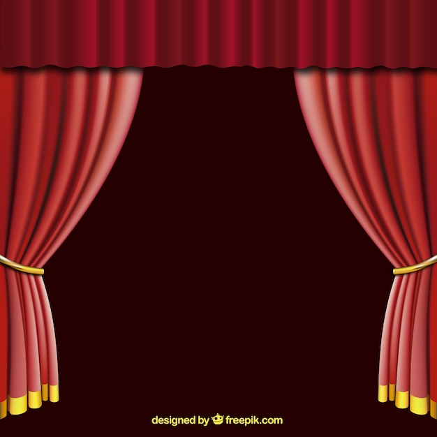ouverte rideau rouge t l charger des vecteurs gratuitement. Black Bedroom Furniture Sets. Home Design Ideas