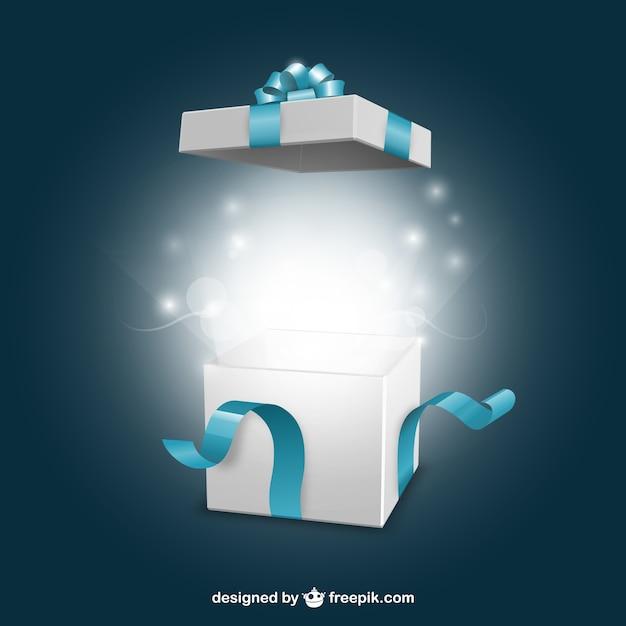 Ouverture present box Vecteur gratuit