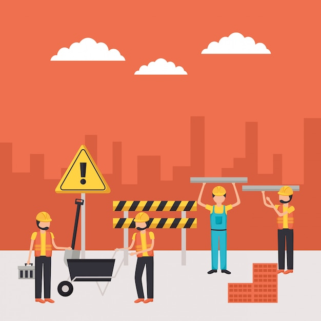 Ouvrier De Construction Vecteur gratuit