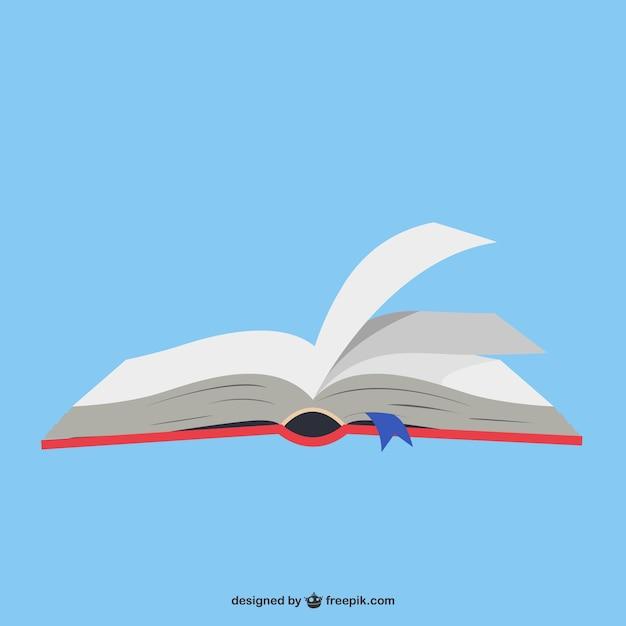 Ouvrir le livre en arrière-plan bleu Vecteur gratuit