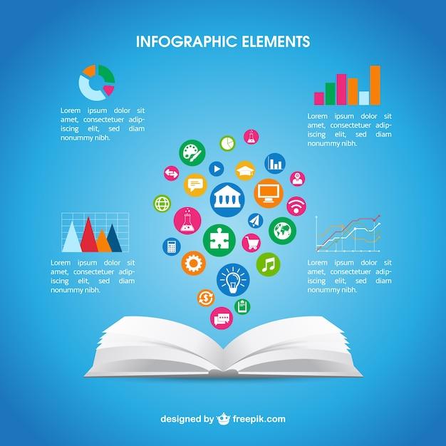 Ouvrir Le Livre Infographie T 233 L 233 Charger Des Vecteurs