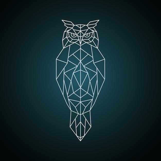 Owl Dans Un Style Géométrique. Vecteur Premium