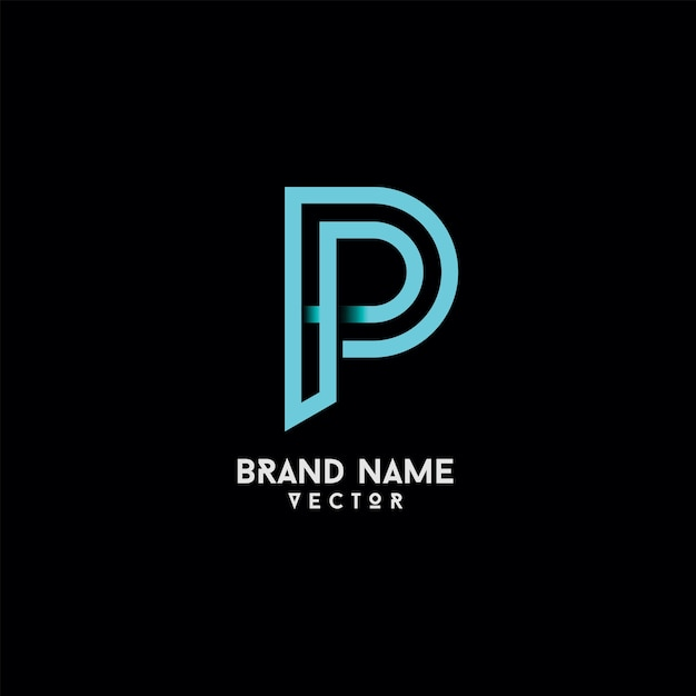 P Lettre Typographie Vector Logo Design Vecteur Premium