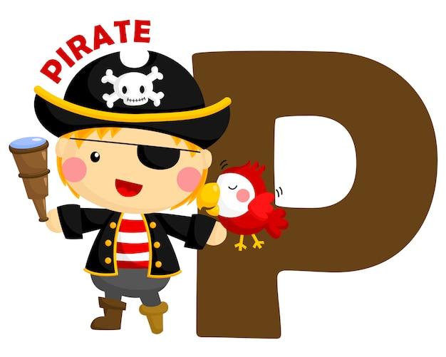 P pour pirate Vecteur Premium