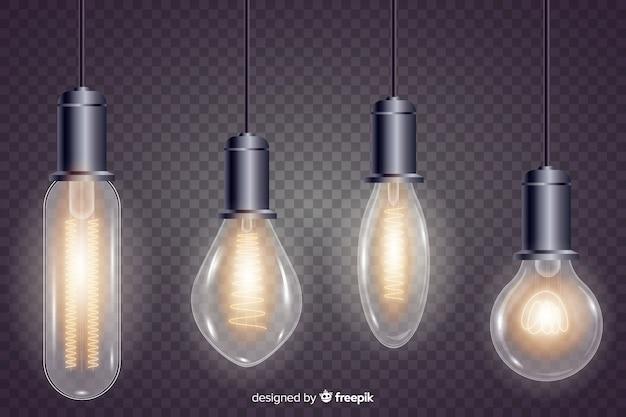 Pack d'ampoules réalistes Vecteur gratuit