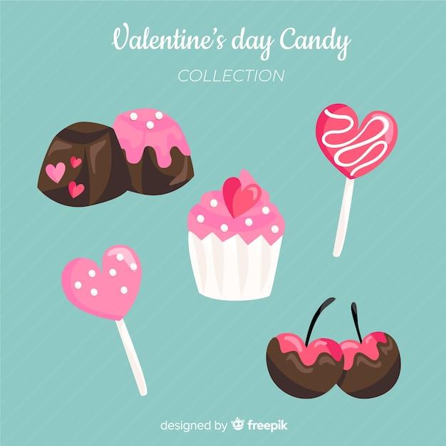 Pack de bonbons valentine Vecteur gratuit