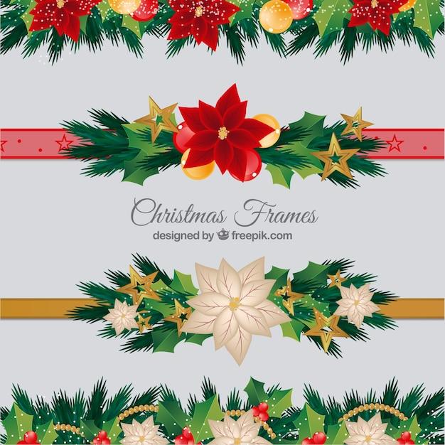 Pack De Bordures De Noël Décoratives Télécharger Des