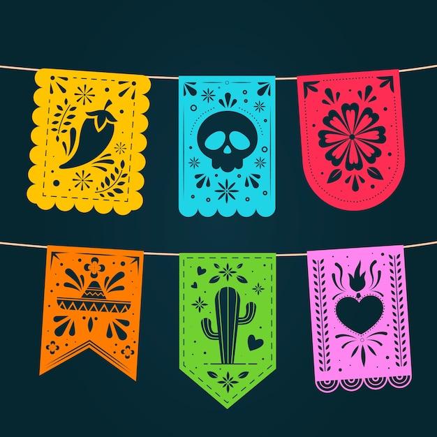Pack De Bruant Mexicain Vecteur gratuit