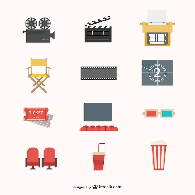 Pack cinéma Vecteur gratuit