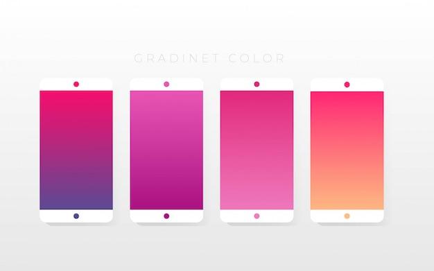Pack de collections de couleurs dégradées Vecteur Premium