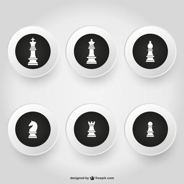 Pack échecs Vecteur gratuit