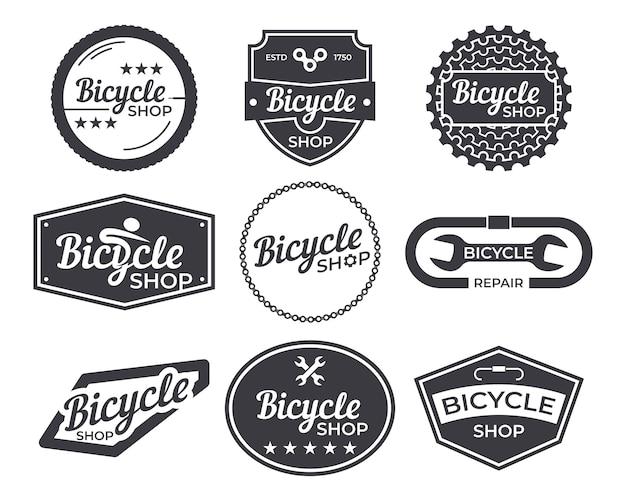 Pack d'emblèmes de bicyclettes vintage Vecteur Premium