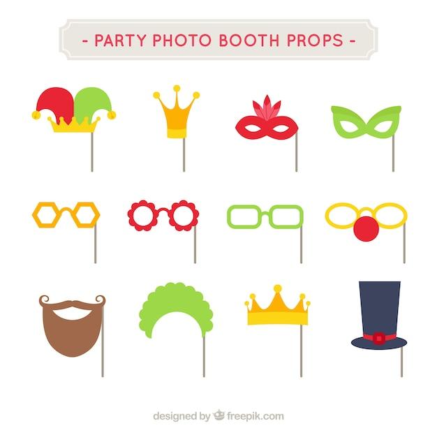 Pack Fun Party Pour Photoboth Vecteur gratuit