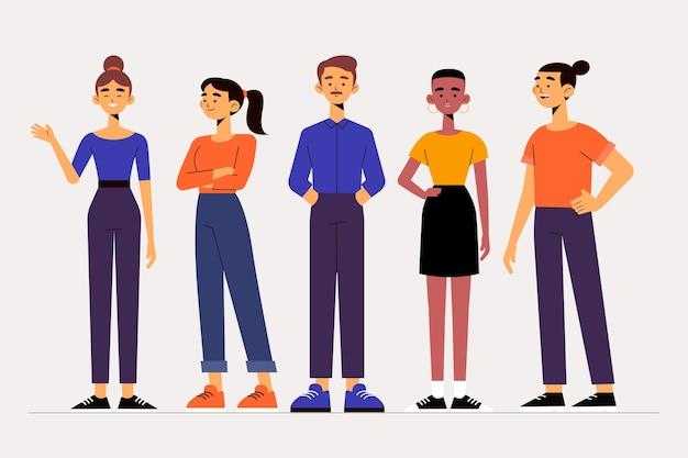 Pack D'illustration De Groupe De Personnes Vecteur gratuit