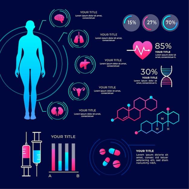 Pack D'infographie Médical Coloré Vecteur gratuit