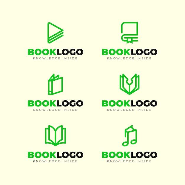 Pack De Logo De Livre Design Plat Vecteur gratuit