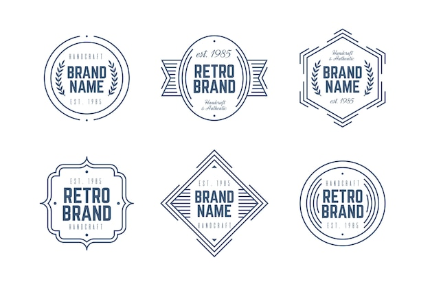 Pack Logo Rétro Vecteur gratuit