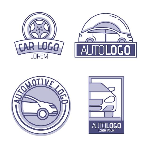 Pack De Logo De Voiture Design Plat Vecteur gratuit