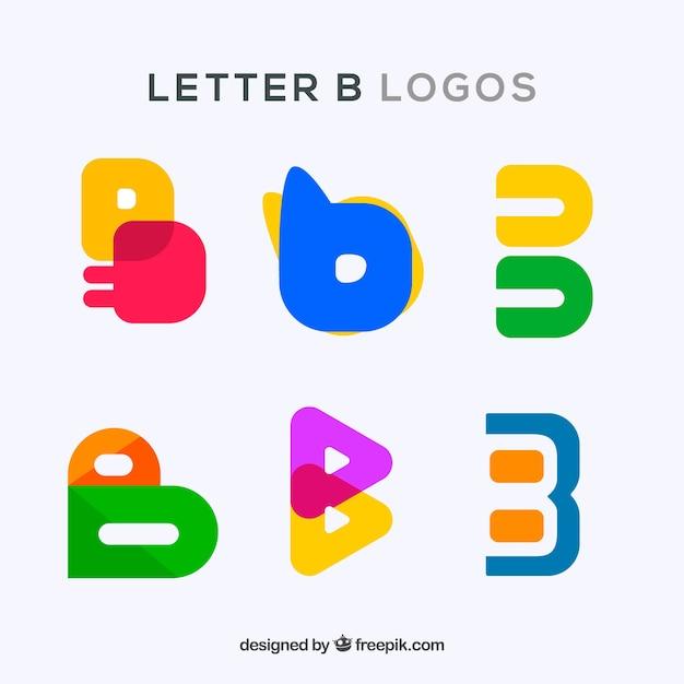 Pack de logos colorés de la lettre