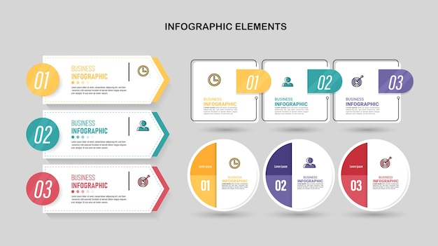 Pack De Modèle D'élément Infographie. Vecteur Premium