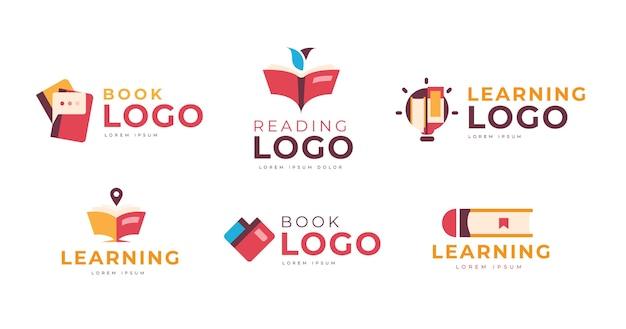 Pack De Modèles De Logo De Livre Vecteur gratuit