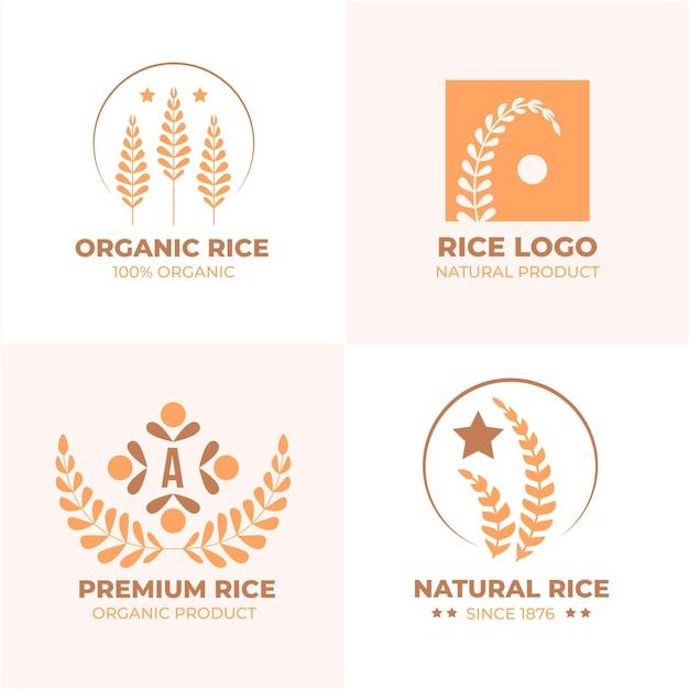 Pack De Modèles De Logo De Riz Vecteur Premium