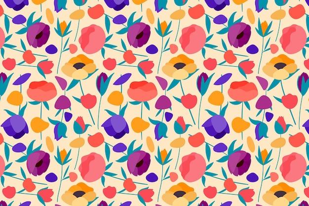 Pack Motif Floral Vecteur gratuit