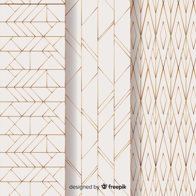 Pack de motifs géométriques légers Vecteur gratuit