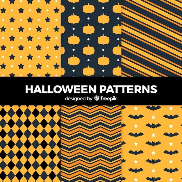 Pack de motifs d'halloween Vecteur gratuit