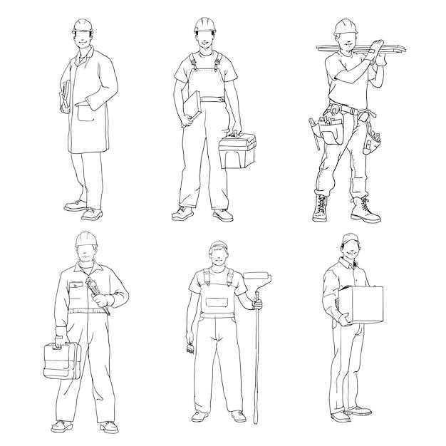 Pack ouvrier Vecteur Premium