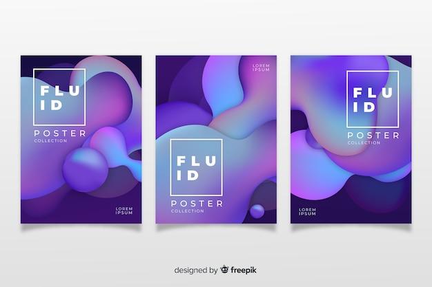 Pack de posters de formes dynamiques Vecteur gratuit