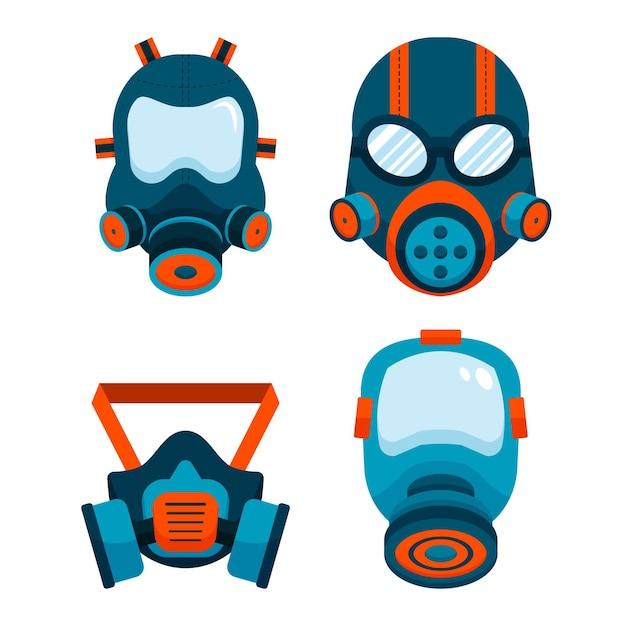 Pack Respiratoire Masque à Gaz Vecteur Premium