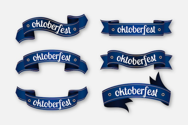 Pack De Rubans Oktoberfest Vecteur Premium