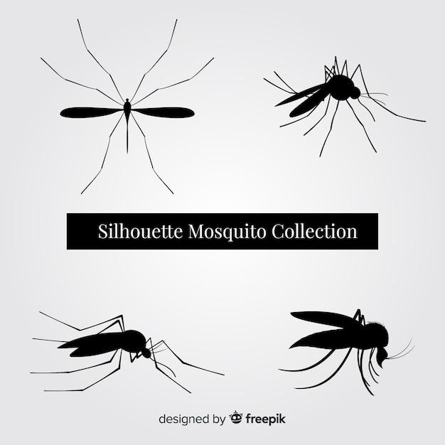 Pack Silhouette Moustiques Vecteur gratuit